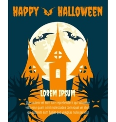 Halloween dark party invitation poster vector