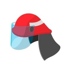 Helmet for a firefighter cartoon icon vector