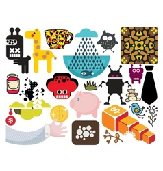 Mix of different images vol55 vector image vector image