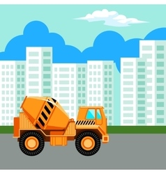 Modern and new apartment building vector image