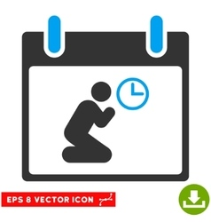 Pray time calendar day eps icon vector