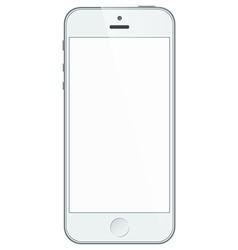 Realistic white iphone 5s with blank screen vector image vector image