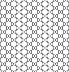 Seamless delicate pattern in arabic style vector image
