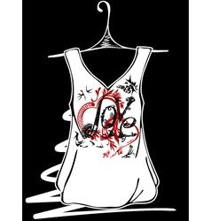 Sketch design t-shirts vector image