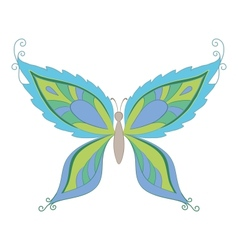 symbolical colorful butterfly vector image vector image