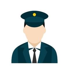 Train conductor icon vector