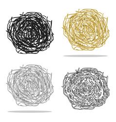 Tumbleweed icon cartoon singe western icon from vector