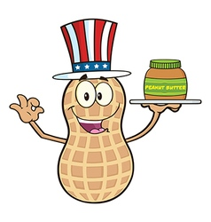 Uncle Sam Peanut Cartoon vector image vector image