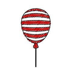 Usa balloon air celebration vector