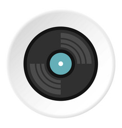 Vinyl record icon circle vector