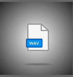 wav icon wav format symbol wav sign vector image vector image