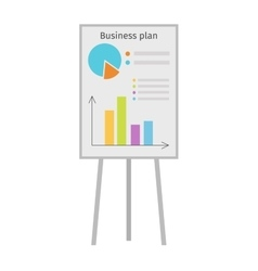 Whiteboard flipchart business presentation vector image