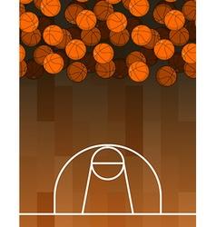 Ball and basketball court Lot of balls Basketball vector image