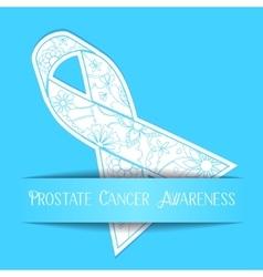 Prostate cancer awareness background vector image