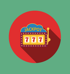 Jackpot on a slot machine  flat icon vector