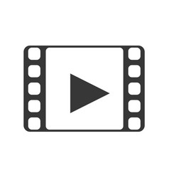 video player media vector image