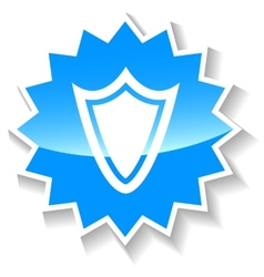 Shield blue icon vector