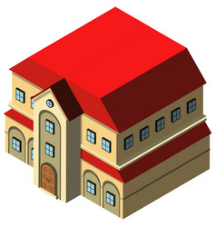 3d design for big house with red roof vector image vector image