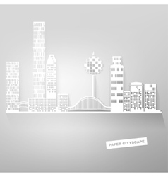 Paper sityscape vector