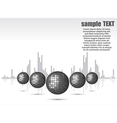 Disco ball background for party vector