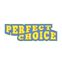 Perfect choice comics icon vector