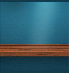 Mock up shelf on blue vector