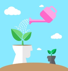 Watering environmental mind vector