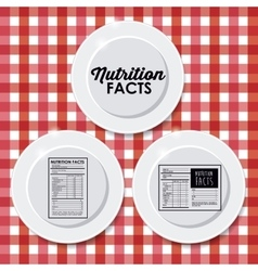 Nutrition facts design vector