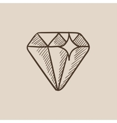 Diamond sketch icon vector