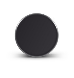 Hockey puck isolated on white with shadow vector image