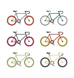Hipster single speed bikes set city bicycles with vector