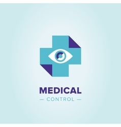 Medic cross logo template vector