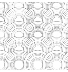 Abstract Drawn Colorful Circles Background vector image