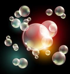 Bubbles eps10 transparent multicolored soap vector