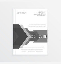 Clean business brochure design template in gray vector