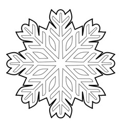 cold icon outline style vector image