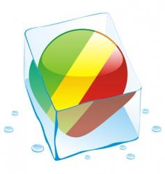 Congo flag vector image vector image