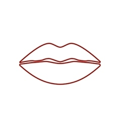 Cool sexy lips vector