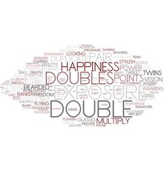 Doubles word cloud concept vector