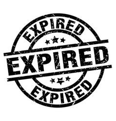 expired round grunge black stamp vector image