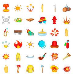 extinguisher icons set cartoon style vector image