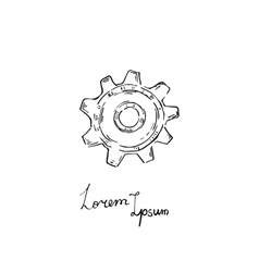 gear icon Doodle style vector image vector image