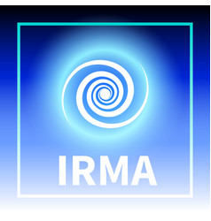 graphic banner of hurricane irma vector image vector image