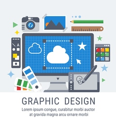 Graphic design for web vector image vector image