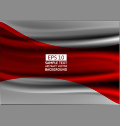 Gray and red wave abstract background design vector