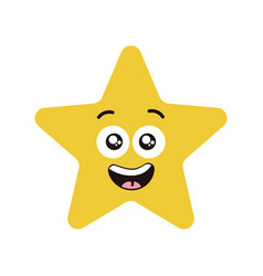 Happy star character vector