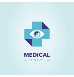 Medic cross logo template vector image
