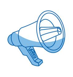megaphone loudspeaker advertising marketing icon vector image