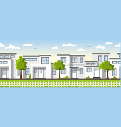 Modern white houses also usable as a continuous vector