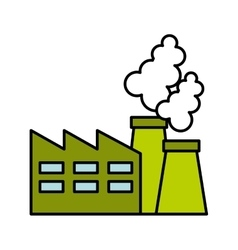 Plant factory building green icon vector